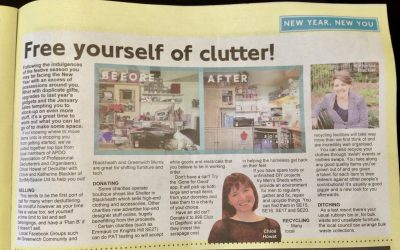 Decluttering tips hot off the press!